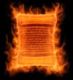 Flaming antique scroll Stock Photos