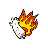 flaming arm cartoon Royalty Free Stock Image
