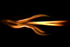 Flaming arrow. Arrow shape built with burning fire flames Royalty Free Stock Image