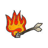 flaming arrow cartoon Stock Photography