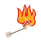 flaming arrow retro cartoon Stock Photography