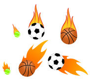 Flaming ball Royalty Free Stock Image