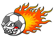 Flaming ball Stock Photo