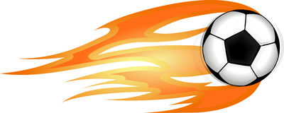 Flaming ball for sport design. Flaming ball for sport design Royalty Free Stock Photo