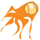 Flaming baseball Royalty Free Stock Photography