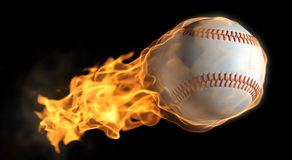 Flaming baseball Stock Images