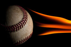 Flaming baseball Stock Photos