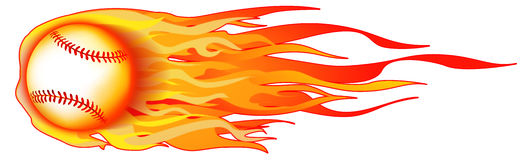 Flaming Baseball Illustration Stock Photo