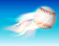 Flaming Baseball in the Sky Illustration Royalty Free Stock Images