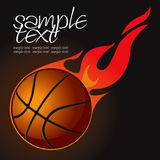 Flaming basketball. Illustration of a basketball with flames Vector Illustration
