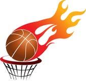 Flaming basketball Royalty Free Stock Image