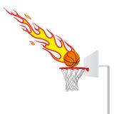 Flaming basketball Royalty Free Stock Photo