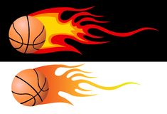 Flaming Basketball Stock Image