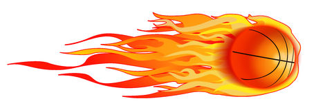 Flaming Basketball royalty free stock photo