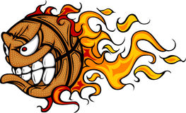 Flaming Basketball Ball Face Vector Image Royalty Free Stock Image
