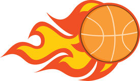 Flaming Basketball Stock Photos