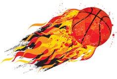 Flaming basketball Royalty Free Stock Photos