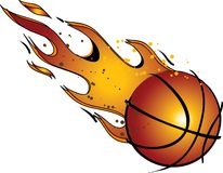 Flaming Basketball...Vector / Clip Art Royalty Free Stock Photos