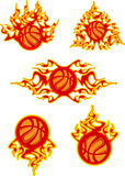 Flaming Basketballs Stock Photo