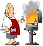 Flaming BBQ Royalty Free Stock Photos