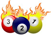 Flaming Billiards Ball Stock Photography
