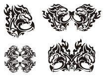 Flaming black dragon Royalty Free Stock Photography