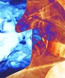 Flaming blue wave vector illustration