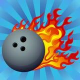 Flaming Bowling Ball Royalty Free Stock Photography