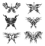 Flaming butterflies. Tattoo with abstract flaming butterflies Royalty Free Stock Photo