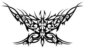 Flaming butterfly. Tattoo with an abstract flaming butterfly Royalty Free Stock Photography