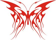 Flaming Butterfly Royalty Free Stock Photography