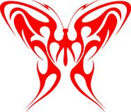 Flaming Butterfly Tribal (Vector) 1 Royalty Free Stock Photos