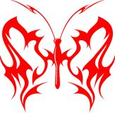 Flaming Butterfly Tribal (Vector) 10 Stock Images