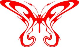 Flaming Butterfly Tribal (Vector) 2. A illustration of a Flaming Butterfly in Tribal Style stock illustration