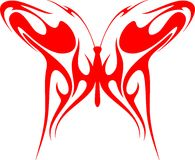 Flaming Butterfly Tribal (Vector) 3 Stock Images
