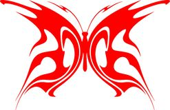 Flaming Butterfly Tribal (Vector) 4 Stock Photos