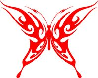 Flaming Butterfly Tribal (Vector) 5 Stock Image