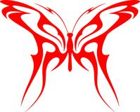 Flaming Butterfly Tribal (Vector) 6 Royalty Free Stock Photography