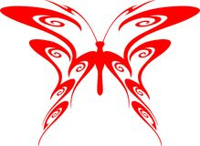 Flaming Butterfly Tribal (Vector) 7. A illustration of a Flaming Butterfly in Tribal Style stock illustration