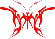Flaming Butterfly Tribal (Vector) 8 Royalty Free Stock Photos