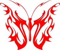 Flaming Butterfly Tribal (Vector) 9 Royalty Free Stock Photo