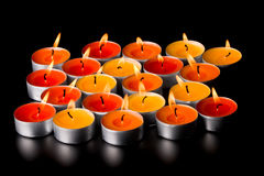 Flaming Candles Stock Photography