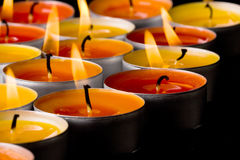 Flaming candles Stock Photo