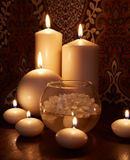 Flaming candles Royalty Free Stock Images
