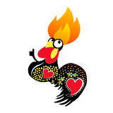 Flaming chicken Royalty Free Stock Images