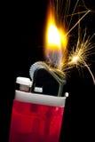 Flaming Cigarette Lighter Stock Photo