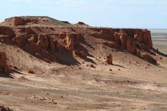 The Flaming Cliff of Bayanzag Stock Photos