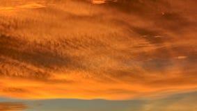 Flaming cloud Royalty Free Stock Photos