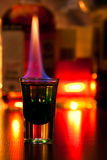Flaming cocktail Royalty Free Stock Image