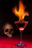 Flaming cocktail Royalty Free Stock Photography